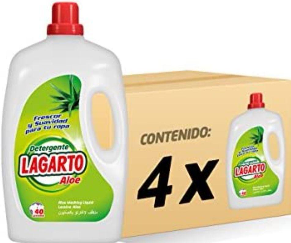 Pack de 4 - Detergente Lavadora Liquido - Aloe Vera - 40 Lavados (2.54€ Unidad) Precio Mínimo!