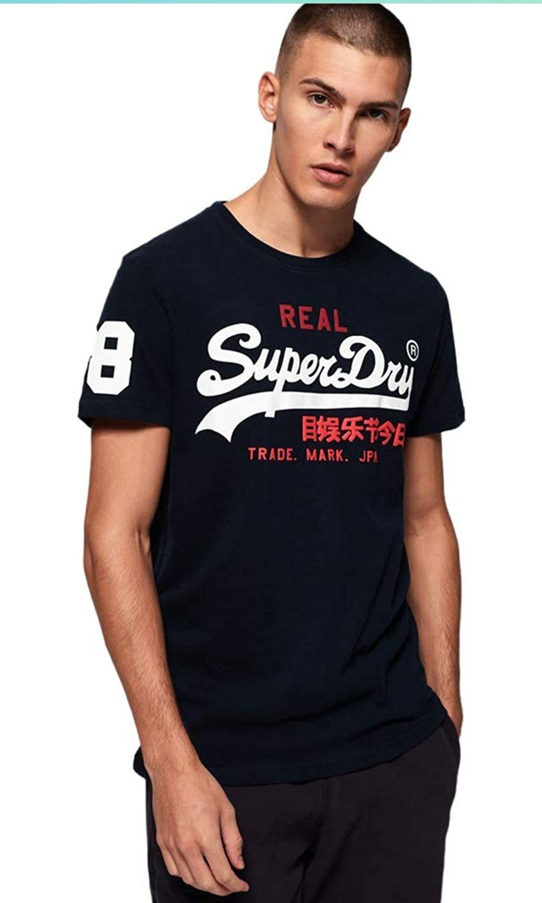 Camiseta superdry tallas M, L y XL. En gris a 15,79 en XS y L.