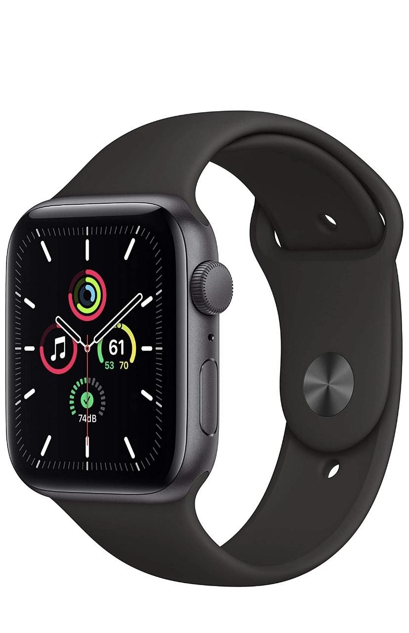 Apple Watch SE (GPS + Cellular, 40 mm) Caja de Aluminio en Gris Espacial - Correa Loop Deportiva en Color carbón
