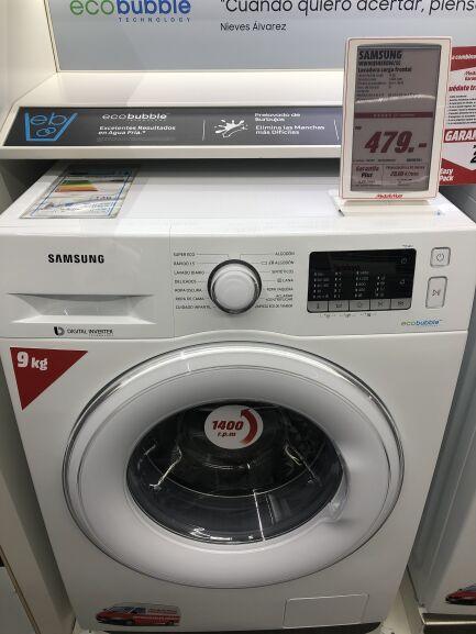 Lavadora en Carrefour: Samsung EcoBubble™ A+++ 9kg WW90J5455DW