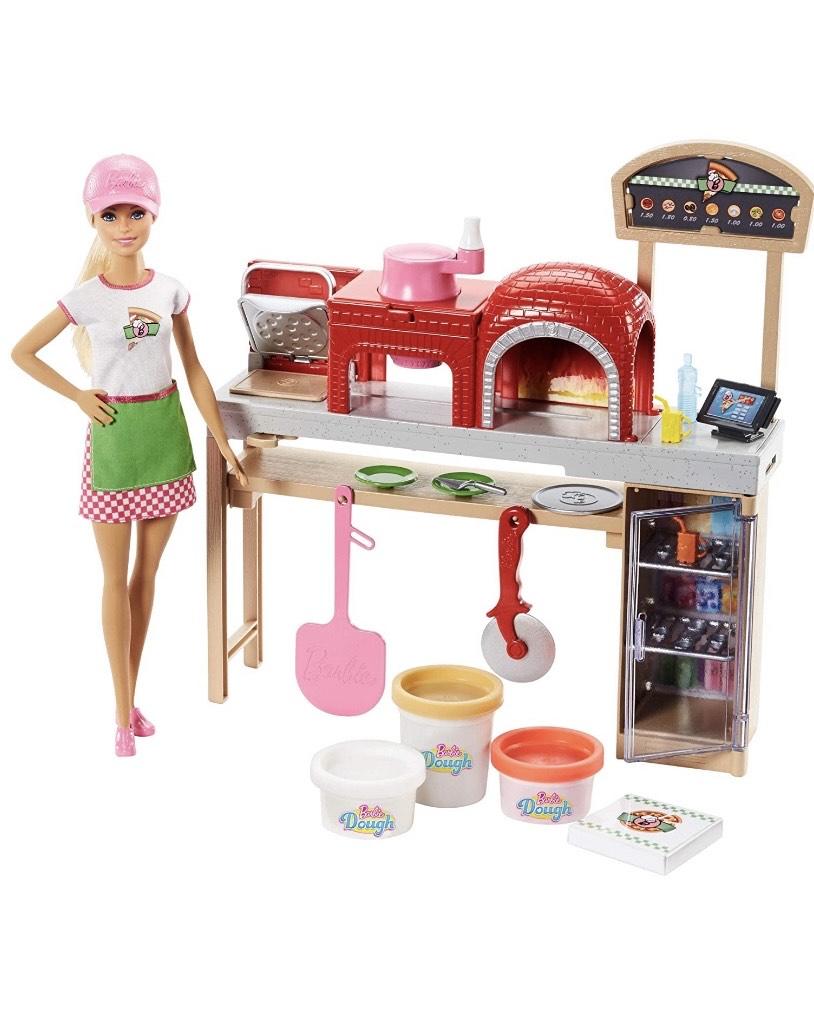 Barbie Quiero Ser pizza chef, muñeca y accesorios de juguete