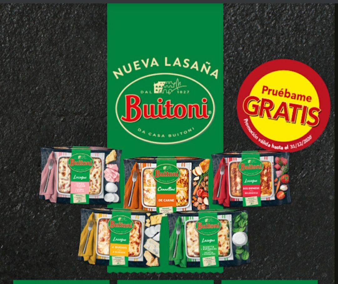 Prueba gratis lasaña buitoni, (Reembolso)