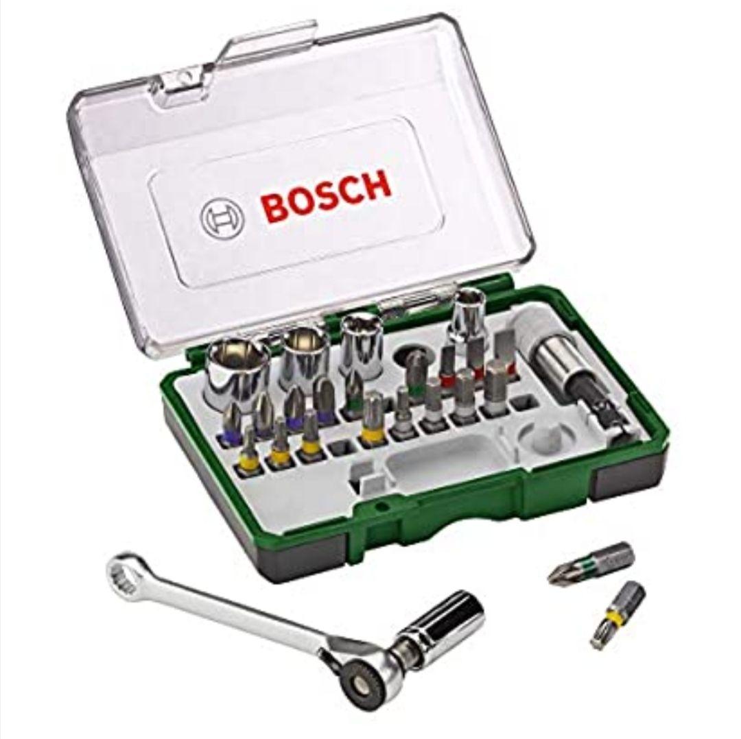 Bosch Professional 2607017160 Pack Unidades para Atornillar, con Llave de carraca, versión estándar, Standard, 750 W, Set de 27 Piezas