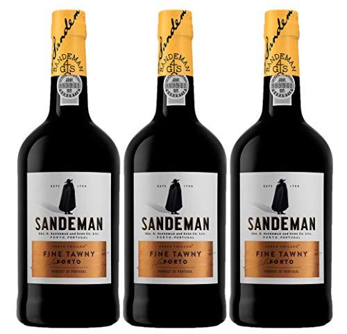 Vino de Oporto Sandeman Tawny, 3 botellas x 75cl