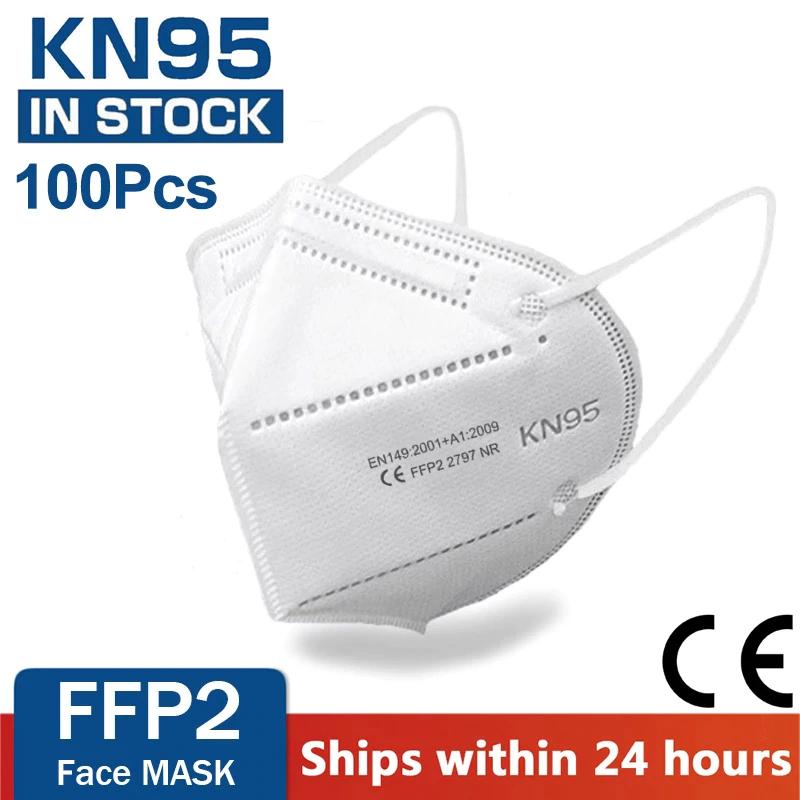 100 Mascarillas FFP2-N95 de 5 capas.