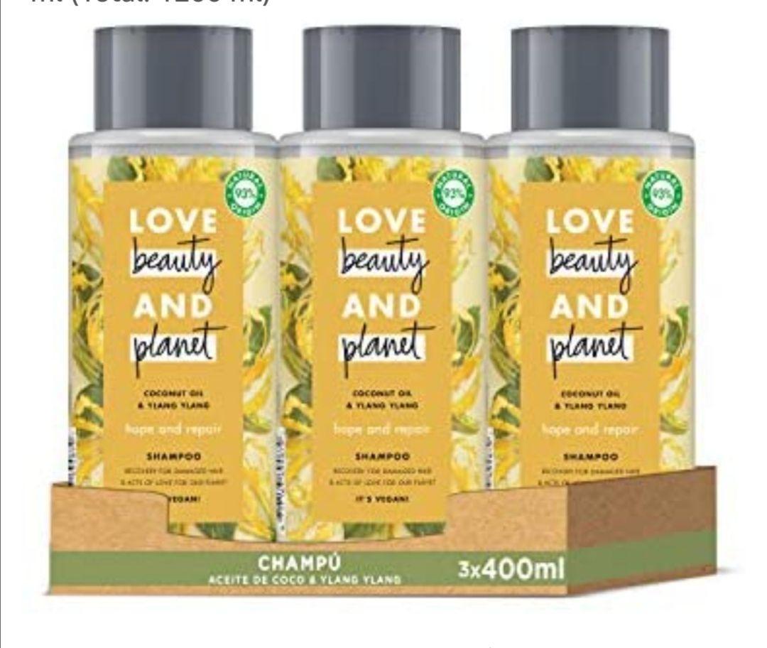 Champú para Cabello dañado, Aceite de Coco e Ylang Ylang Vegano- Pack de 3 x 400 ml