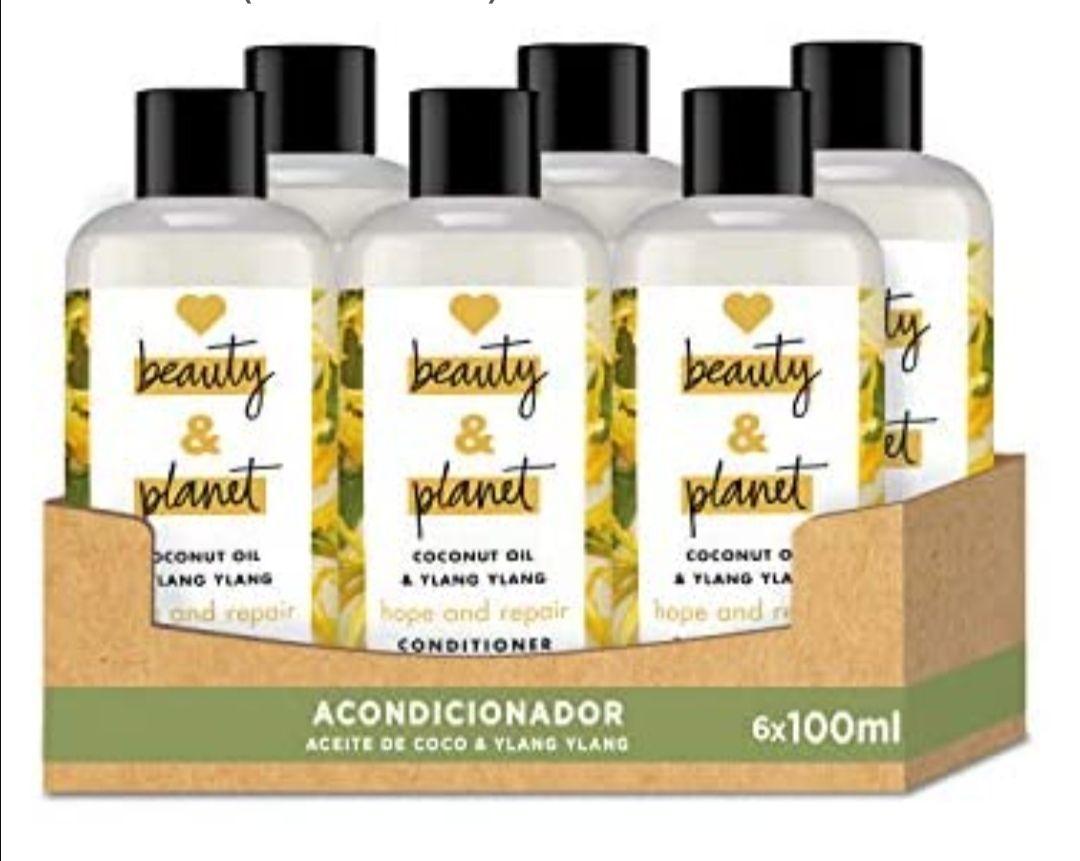 Acondicionador para Cabello dañado, Aceite de Coco e Ylang Ylang Vegano - Pack de 6 x 100 ml