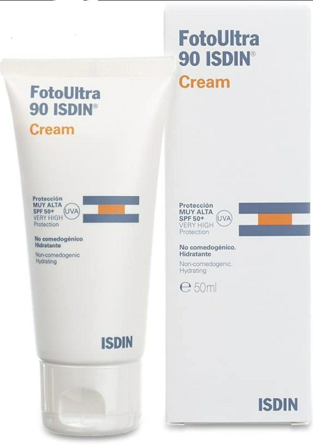 FotoUltra 90 ISDIN 50ml | Protector solar facial en crema | Hidratante