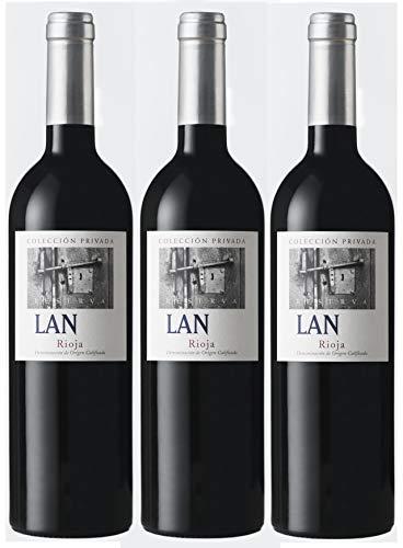 Vino Tinto LAN Colección Privada Reserva (Rioja) 3 botellas de 75cl