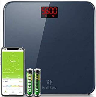 Báscula de Baño Báscula Inteligente Bluetooth Báscula Digital con IMC de Alta Precisión, Monitores de Peso Corporal Maximo 180kg (cupón)