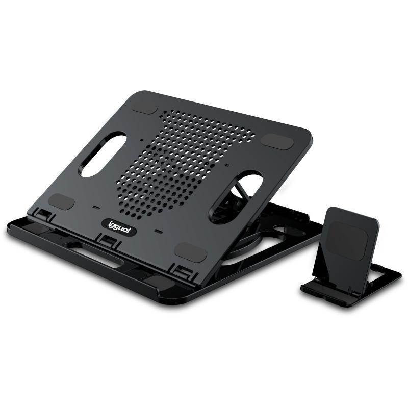 Soporte para refrigerar portátil y soporte móvil Iggual