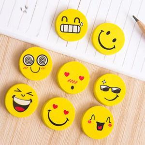 4 Borradores tipo Goma Emoji Sonrisas