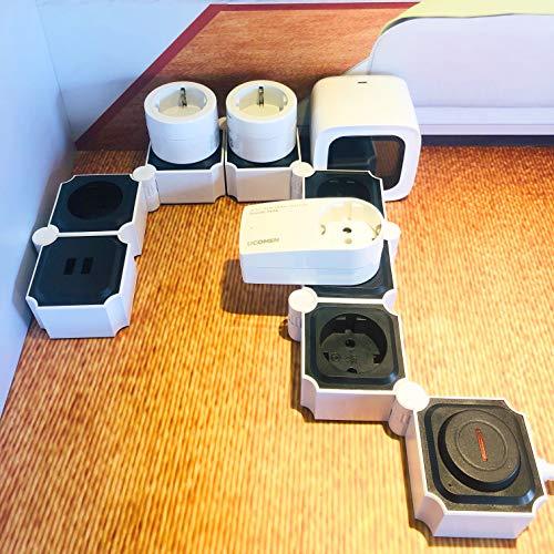 Regleta Modular 6 Tomas 2 USB + Protección Sobretensión y Sobrecarga, 3680W