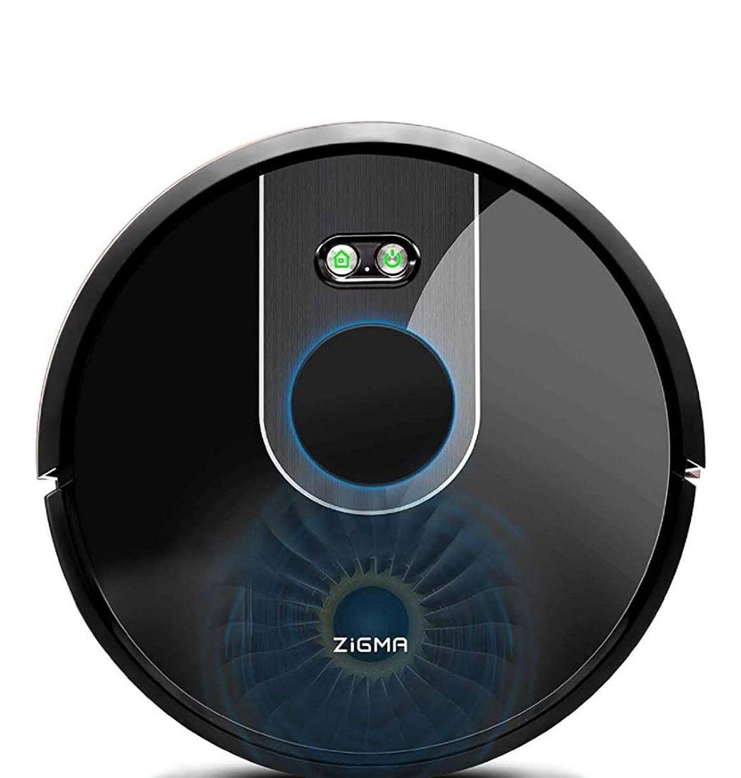 Zigma Robot Aspirador, Navegación Láser, Súper Fuerte Succión, Fregasuelos 4 en 1, App Control con Múltiples Mapas, Alexa y Google Assistant