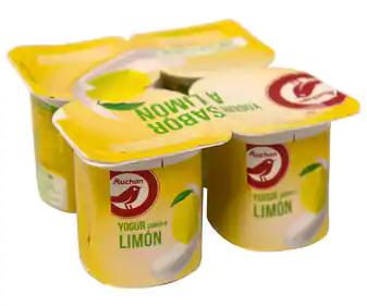 Yogur con sabor a limón PRODUCTO ALCAMPO 4 x 125 g.