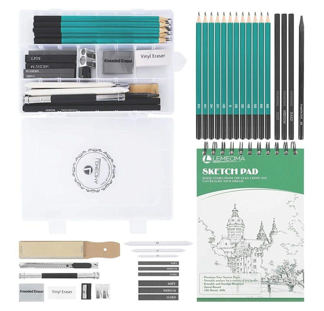 Lapices De Dibujo Artístico Set de Lápices Profesional del Artista (33 piezas)