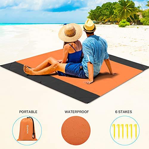 Super alfombrilla impermeable para playa, camping, etc. (Naranja: 305 x 275 CM)