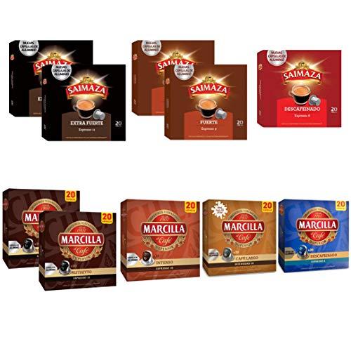 (200 capsulas) Marcilla Mundo español del café Surtido Cápsulas 10 Paquetes