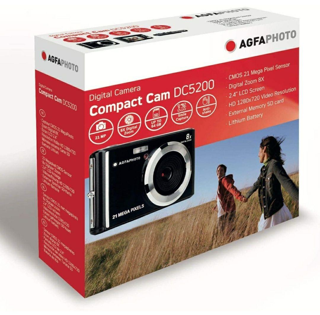 De 2ª mano: Muy Bueno. AGFA Photo - Cámara Digital compacta con 21 Mpx, Sensor CMOS, Zoom Digital 8X y Pantalla LCD, Color Plateado