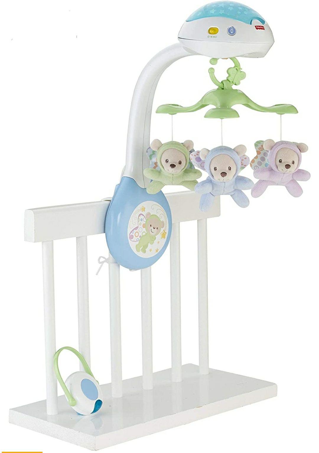 REACO, Como Nuevo. Fisher-Price - Móvil con ositos - juguetes bebe - (Mattel CDN41)