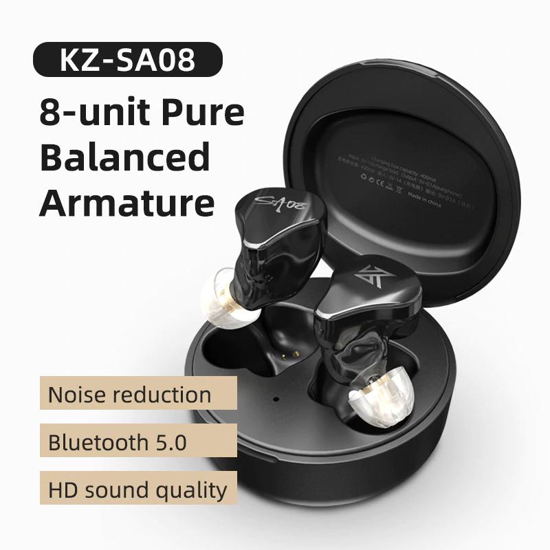 Auriculares TWS KZ SA08 (8 altavoces BA)