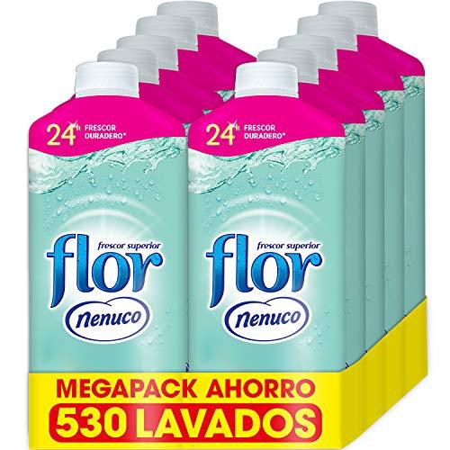 Suavizante para la ropa concentrado, aroma nenuco, hipoalergénico - Pack de 10, hasta 530 dosis Marca: Flor