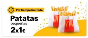 2 bolsas de patatas pequeñas a 1€