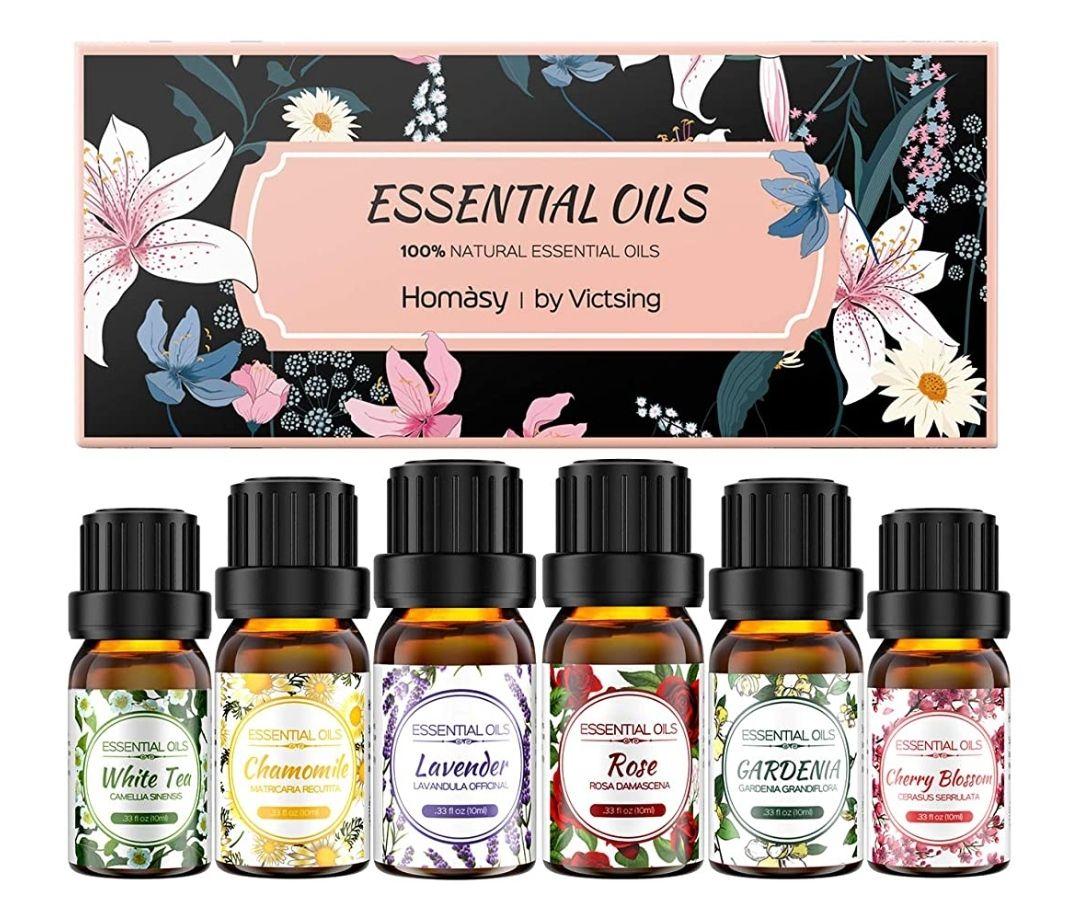 6 * 10ml Florales, Flores Aceites Esenciales para Humidificador Difusor Aromaterapia, 100% Puro Natura