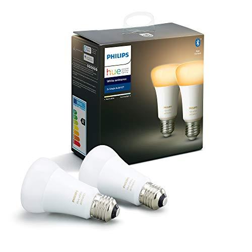 Philips Hue 2 bombillas E27 Luz Blanca