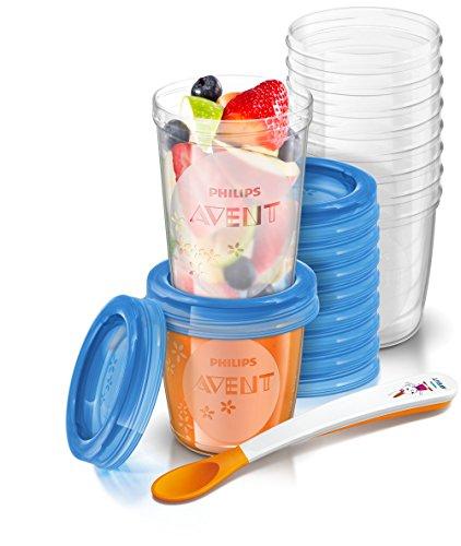 PrimeDay - Juego de recipientes para comida de bebé (20 recipientes + 1 cuchara + libro recetas)