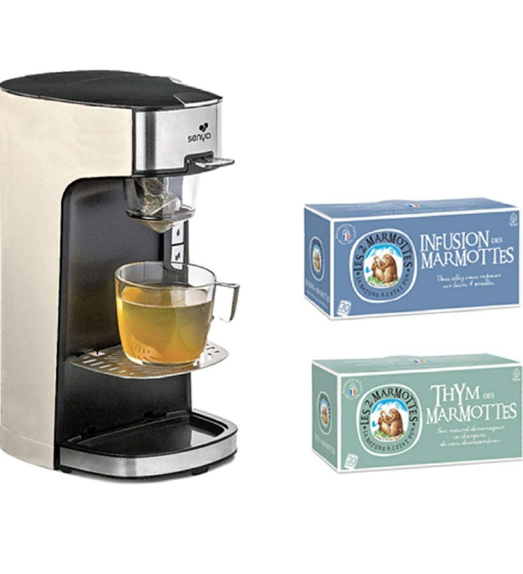Senya SYPK-009C Máquina de té Tea Time, 1415 W, Crema