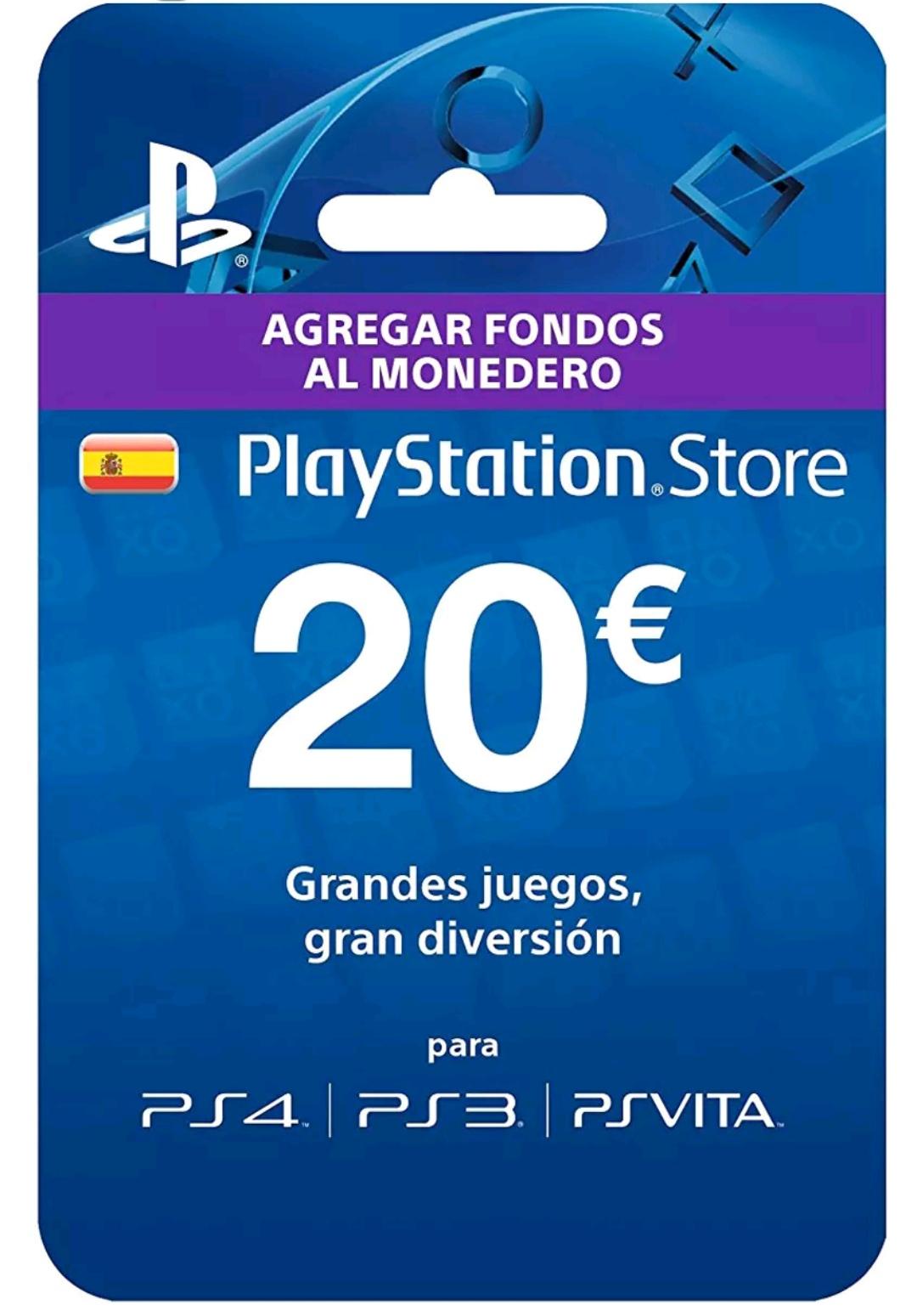 Tarjeta prepago PlayStation 20€