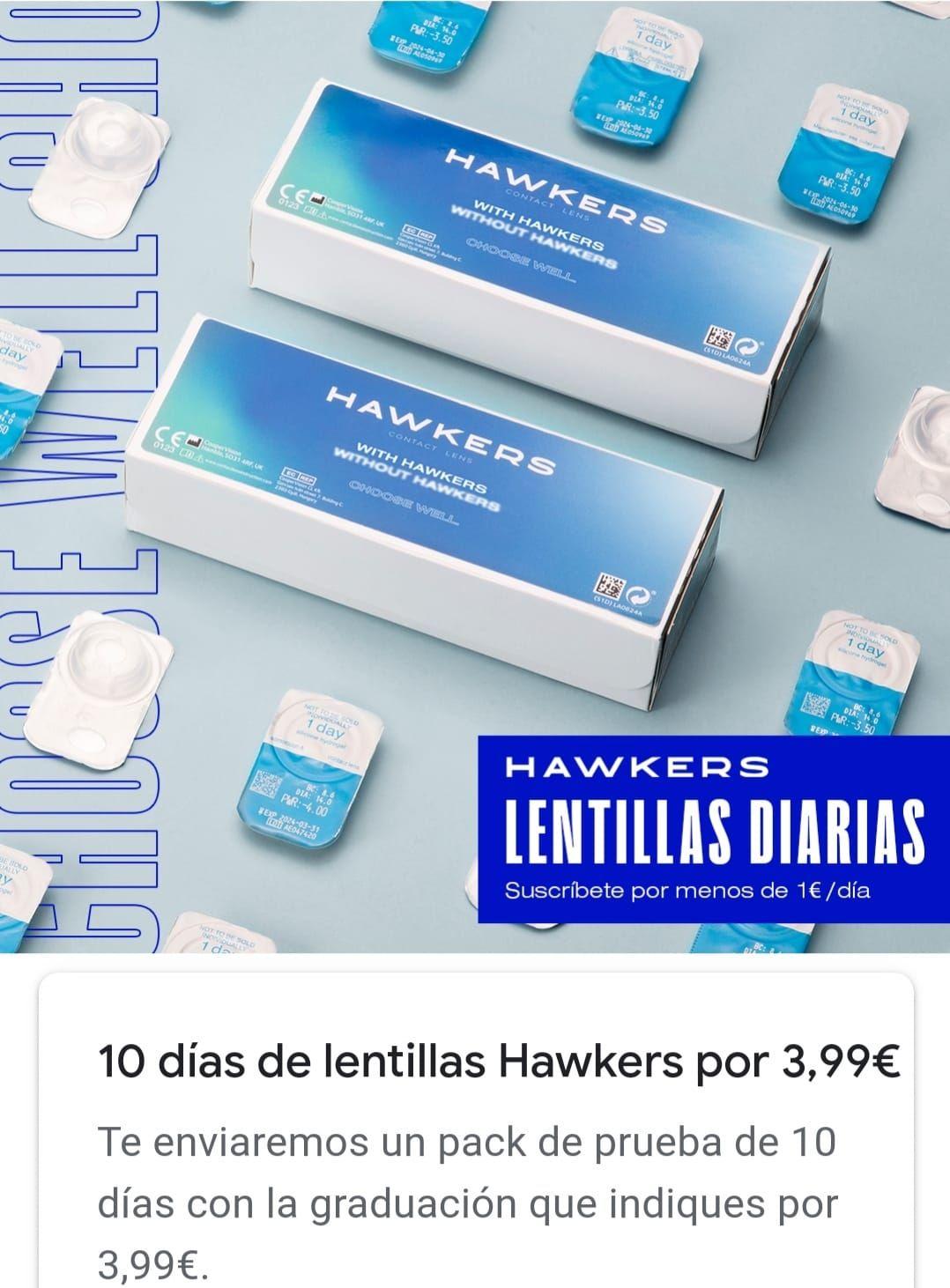 10 lentillas Hawkers graduadas gratis