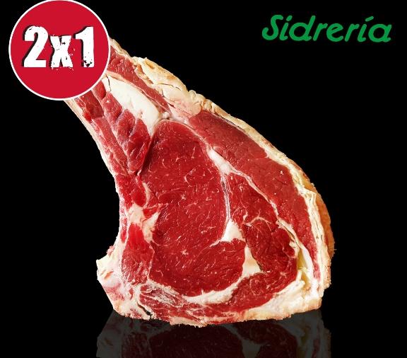Chuleta de vaca sidrería 2x1