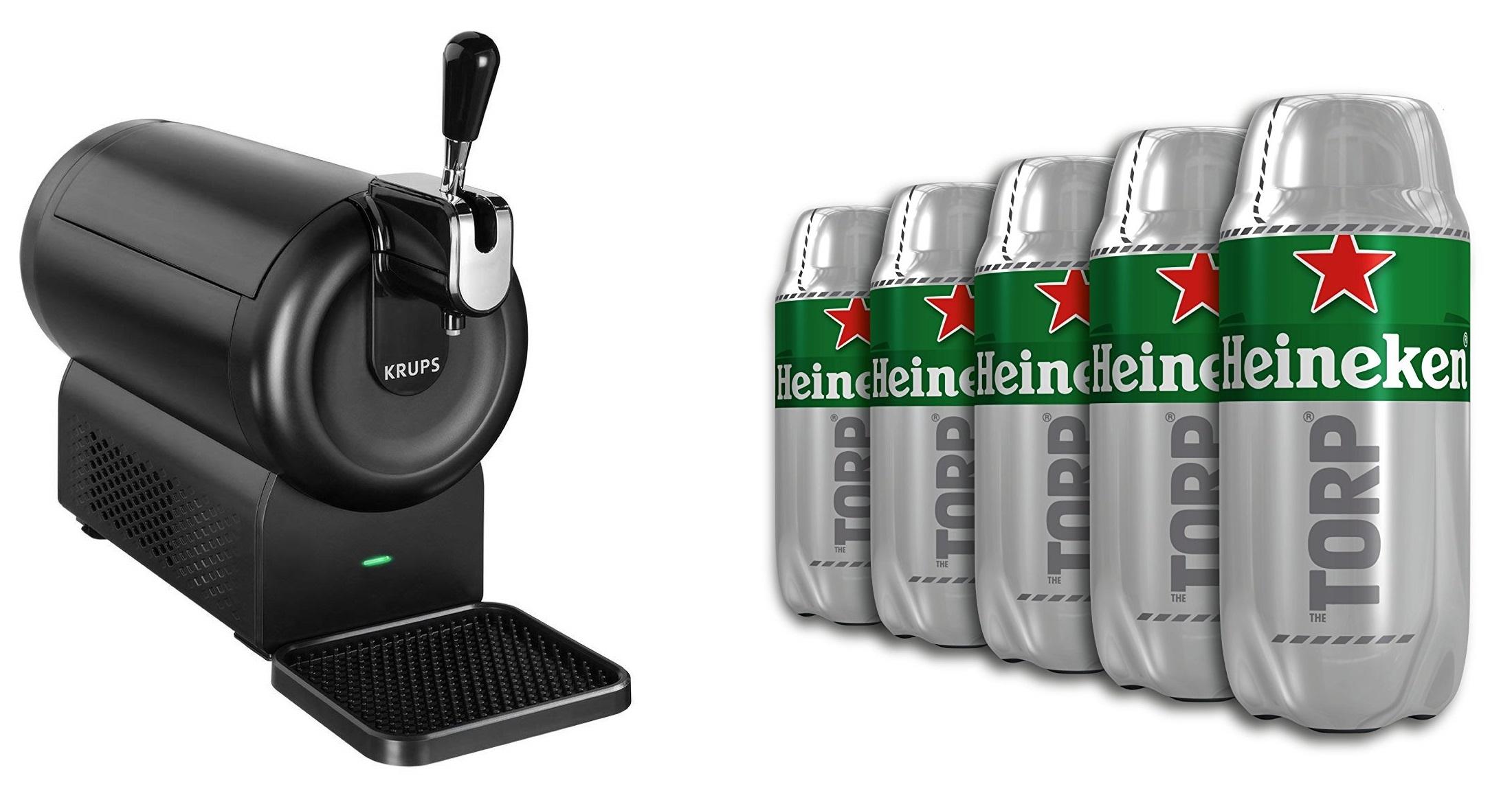 Tirador de Cerveza + Caja de 5 Trops 2 L Heineken (10 L total)