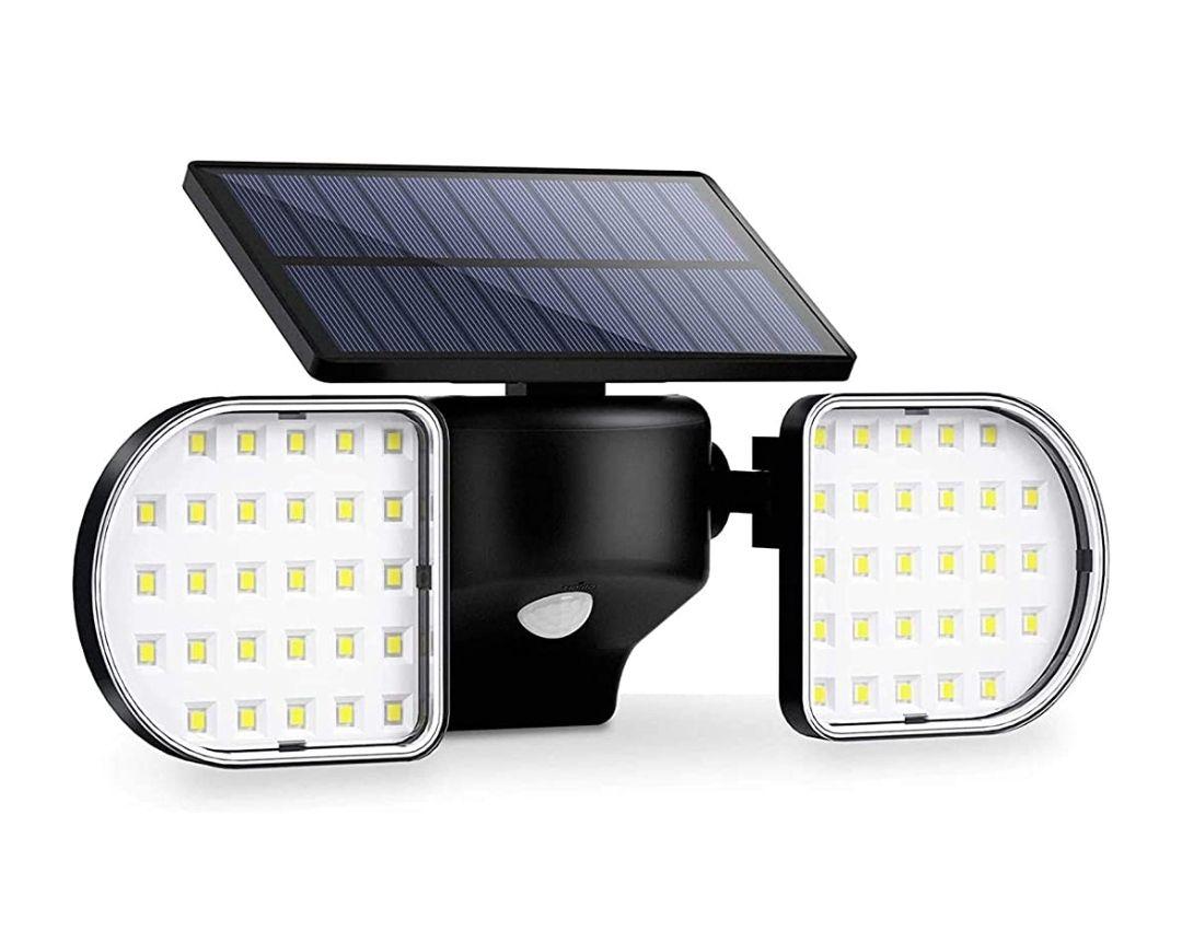 Luz Solar Exterior 56 LED Foco Solar con Sensor de Movimiento Lámpara Solar de Seguridad Impermeable IP65 360 °