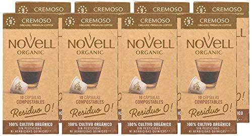 Cápsulas Nespresso Compostables con café Ecológico - Cremoso Paquete de 8 cajas