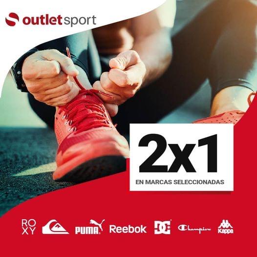 2x1 en tiendas outlet sport para algunas marcas