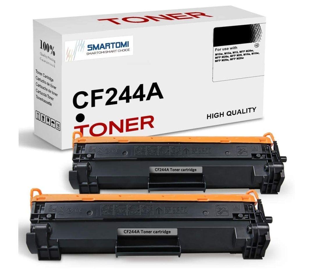 2 cartucho de tóner negro de alto rendimiento compatible con cartuchos CF244A 44A para impresoras HP LaserJet Pro