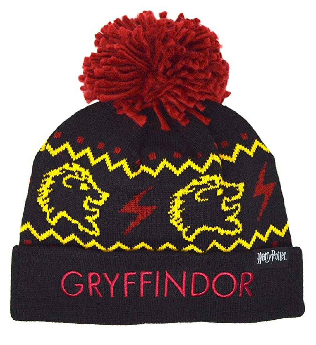 TALLA 8/14 AÑOS - HARRY POTTER Gorro de lana para niños Hogwarts Gryffindor