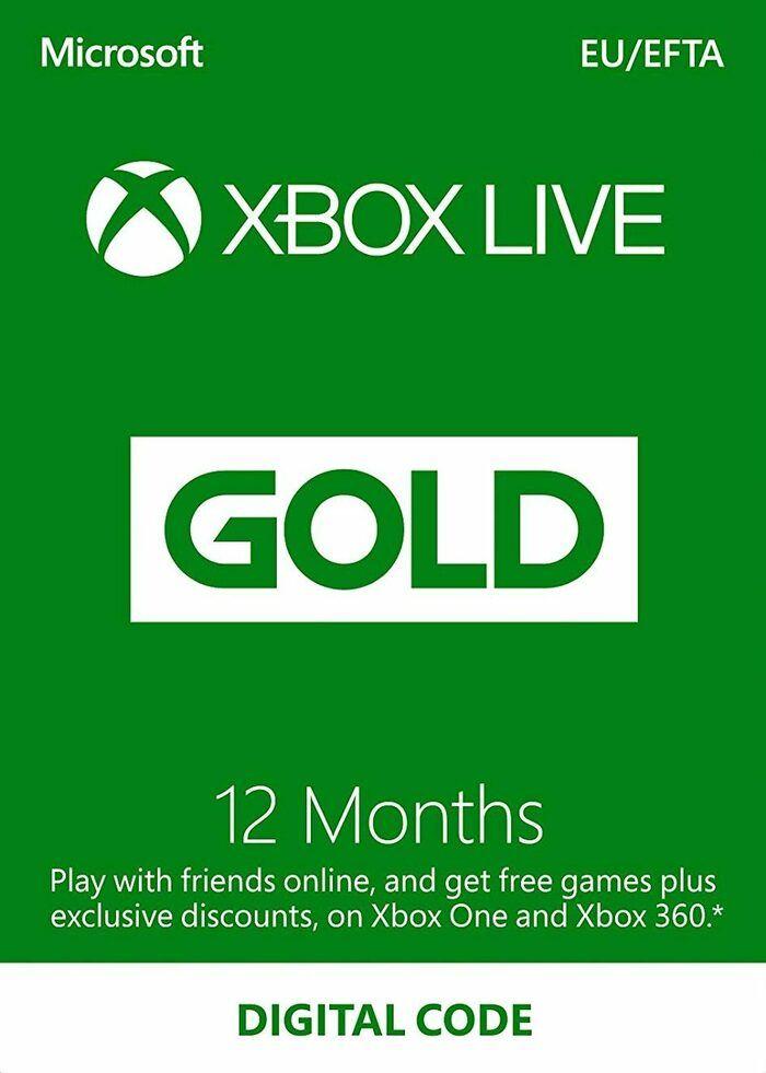 Suscripción Xbox Live Gold 12 meses Xbox Live código EUROPA