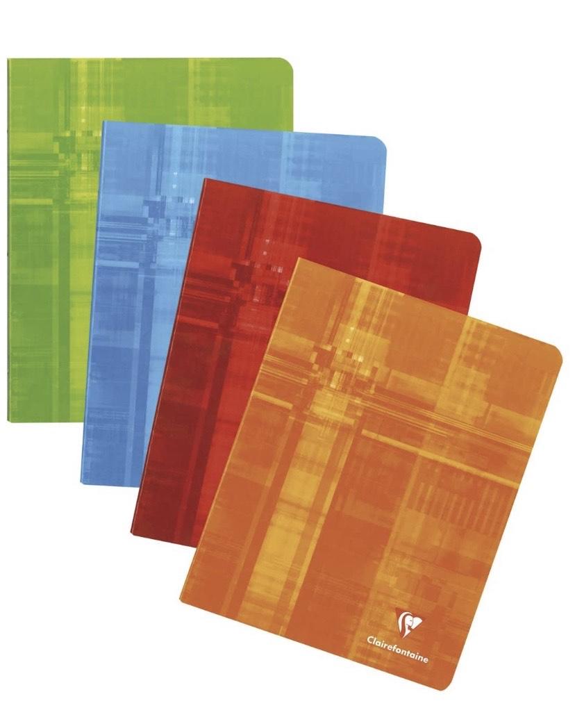 Clairefontaine 63741C - Lote de 10 Cuadernos grapados A5 MAXI rayado francés (Séyès) de 96 páginas