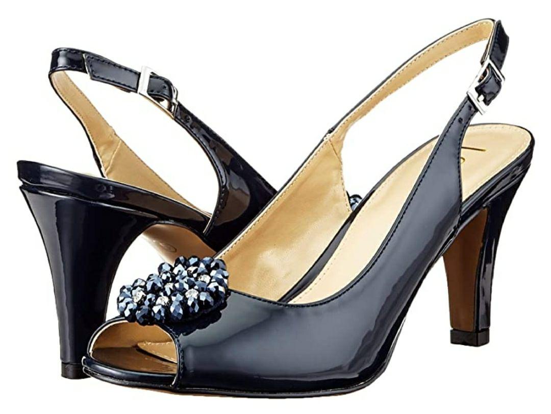 TALLA 38 - Lotus Elodie, Zapatos de tacón con Punta Abierta Mujer