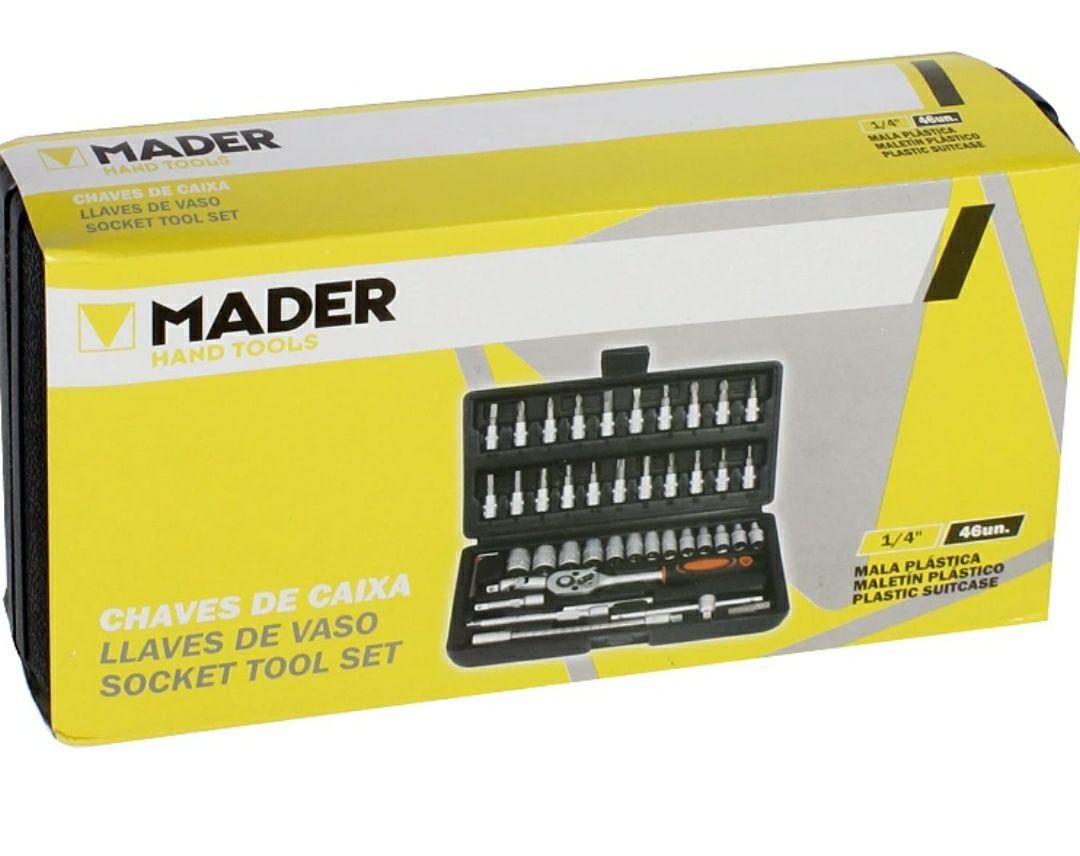 """Mader Hand Tools 51066 Llaves de Vaso 1/4"""" Cromo Vanadium 46Un-51066"""