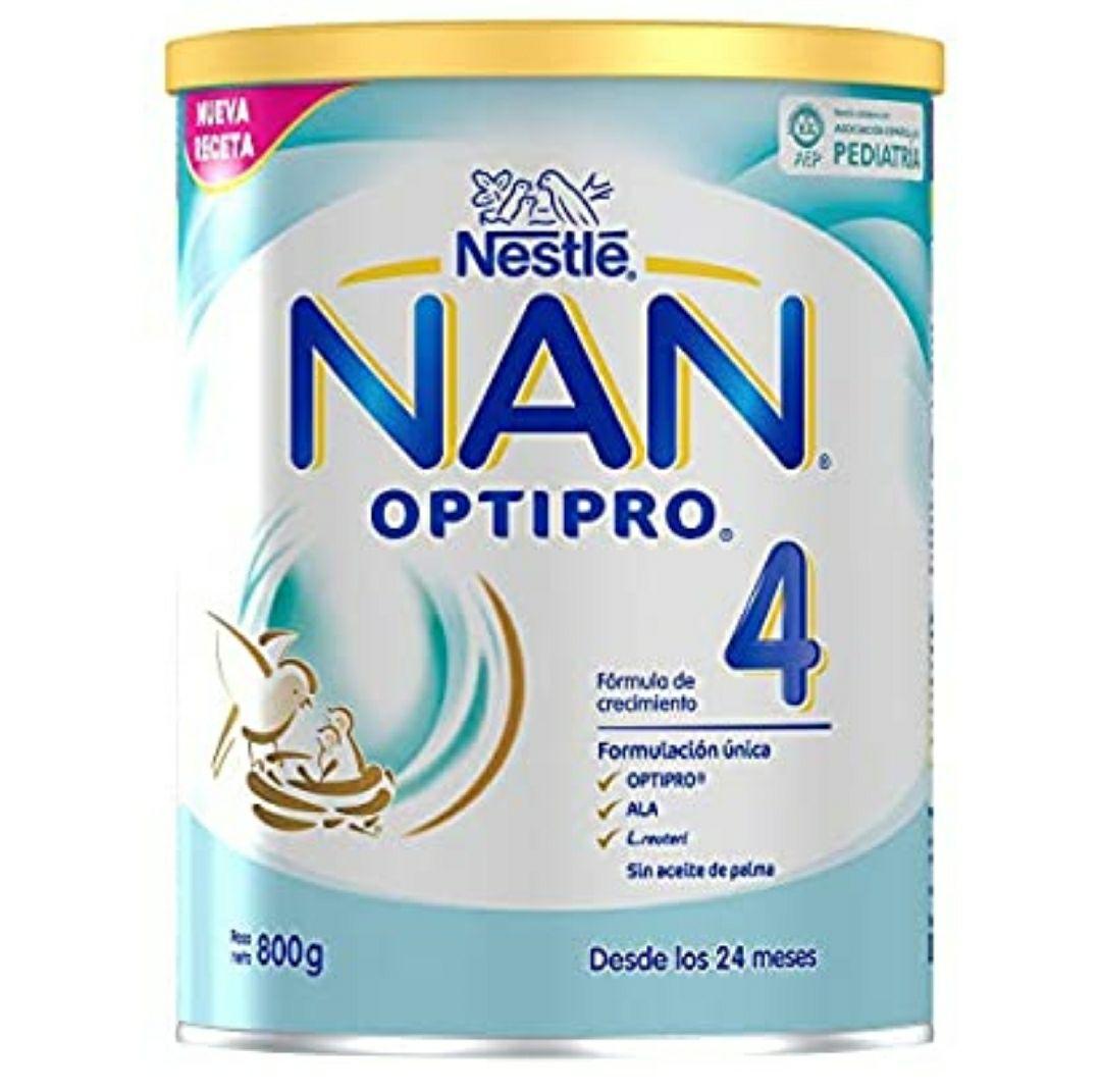 NAN OPTIPRO 4 - Preparado lácteo infantil - Fórmula de crecimiento en polvo - A partir de los 24 meses - 6 x lata de 800 gr