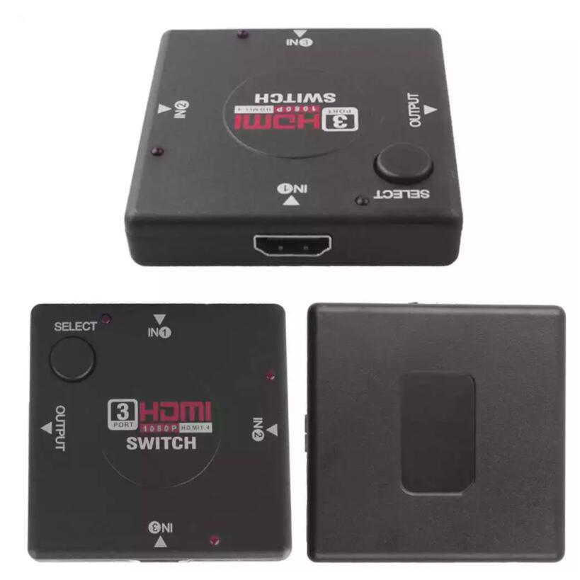 Conmutador HDMI Switch de 3 Entradas 1 Salida Multipuerto Full HD 1080P Plaza envío España