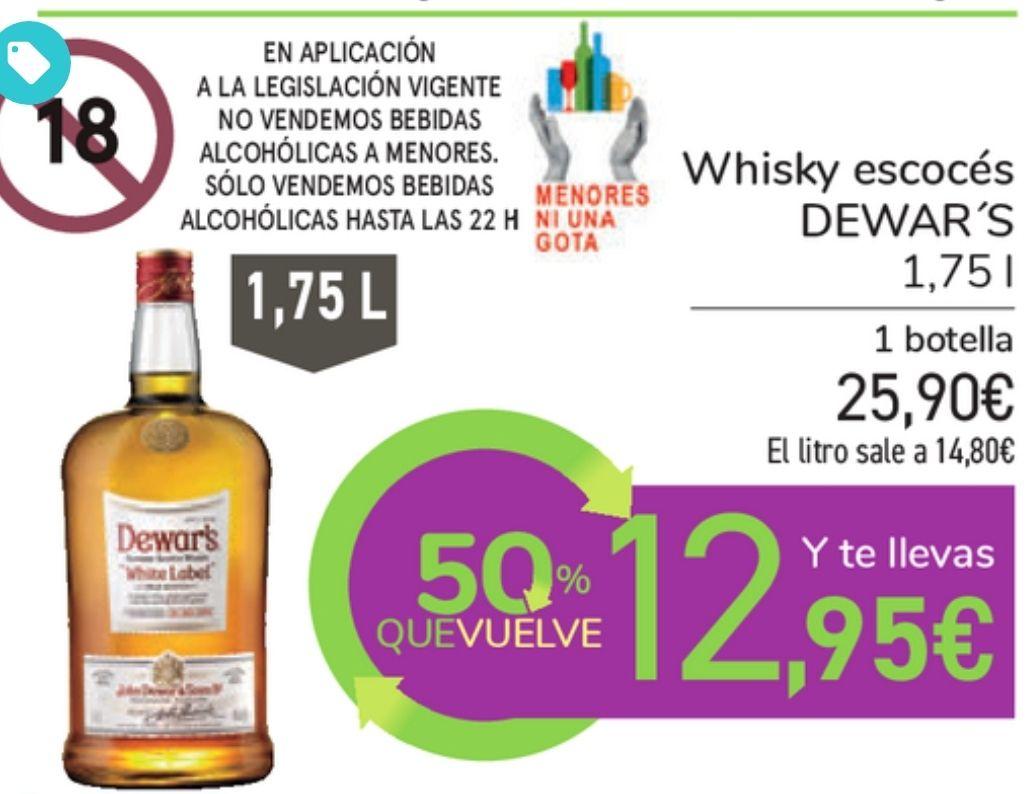 SOLO HOY!! Botellaca de White Label por menos de 13€!!