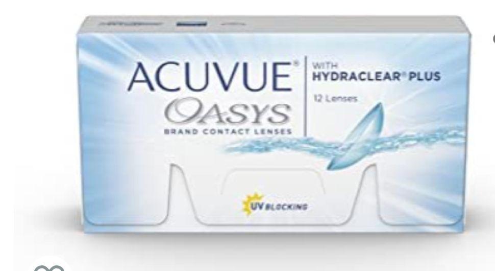 12 unidades ACUVUE® OASYS with HYDRACLEAR® PLUS - Lentillas quincenales - protección UV -