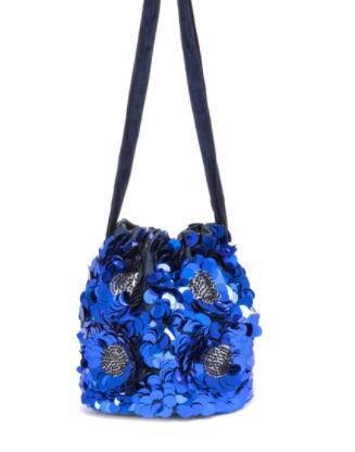 Bolso de hombro Cuplé estilo bombonera en azul