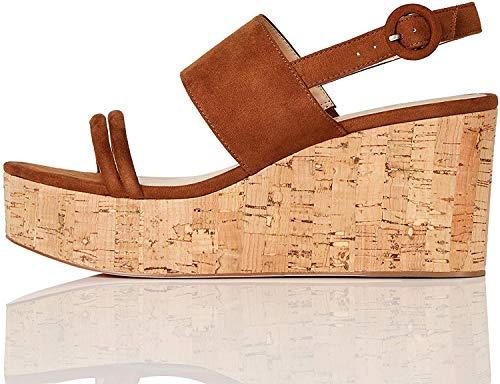 Marca Amazon Zapatos de tacón con punta abierta Mujer Nº 39